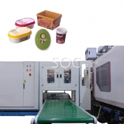 Side entry labeling machine