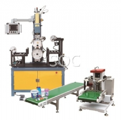 Automatic heat transfer machine for conical product